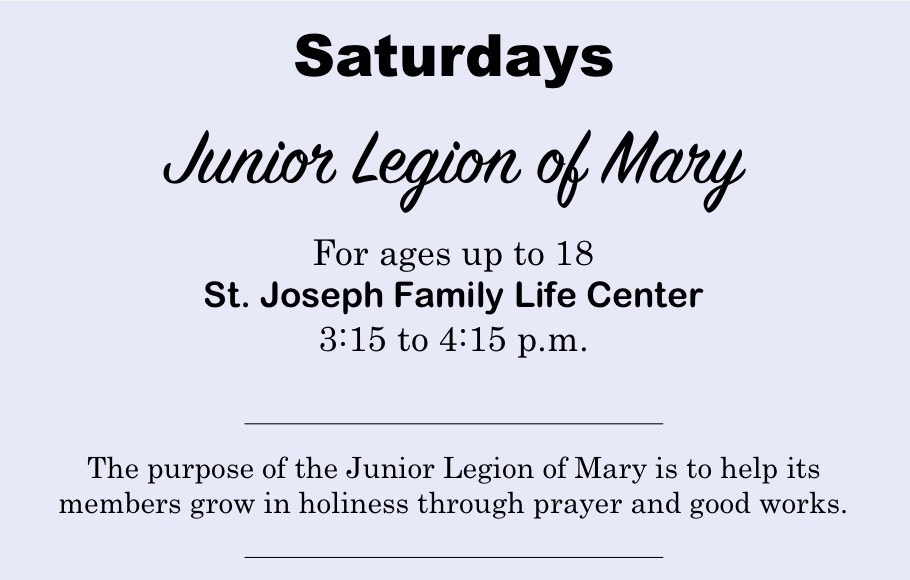 Legion of Mary Banner for Website